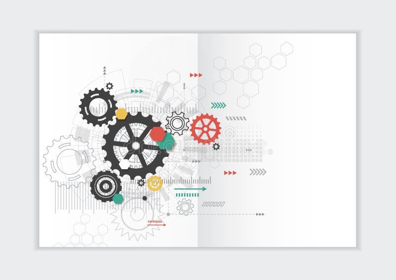 Αφηρημένο πρότυπο ετήσια εκθέσεων υποβάθρου, γεωμετρική κάλυψη επιχειρησιακών φυλλάδιων σχεδίου τριγώνων στοκ εικόνα με δικαίωμα ελεύθερης χρήσης