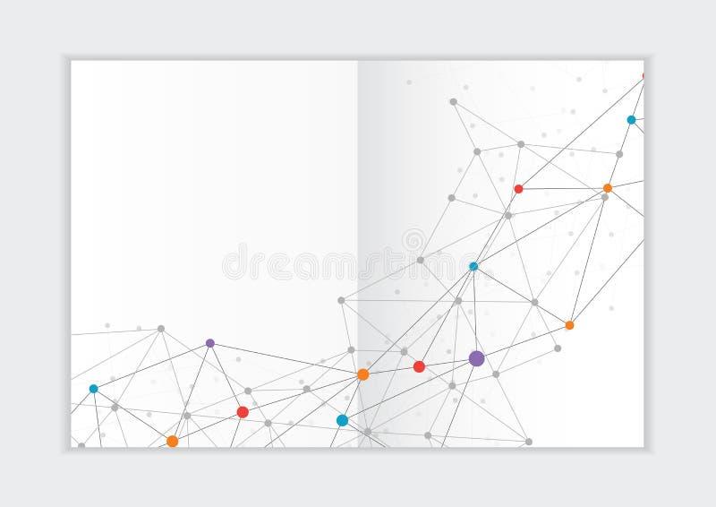 Αφηρημένο πρότυπο ετήσια εκθέσεων υποβάθρου, γεωμετρική κάλυψη επιχειρησιακών φυλλάδιων σχεδίου τριγώνων στοκ φωτογραφίες