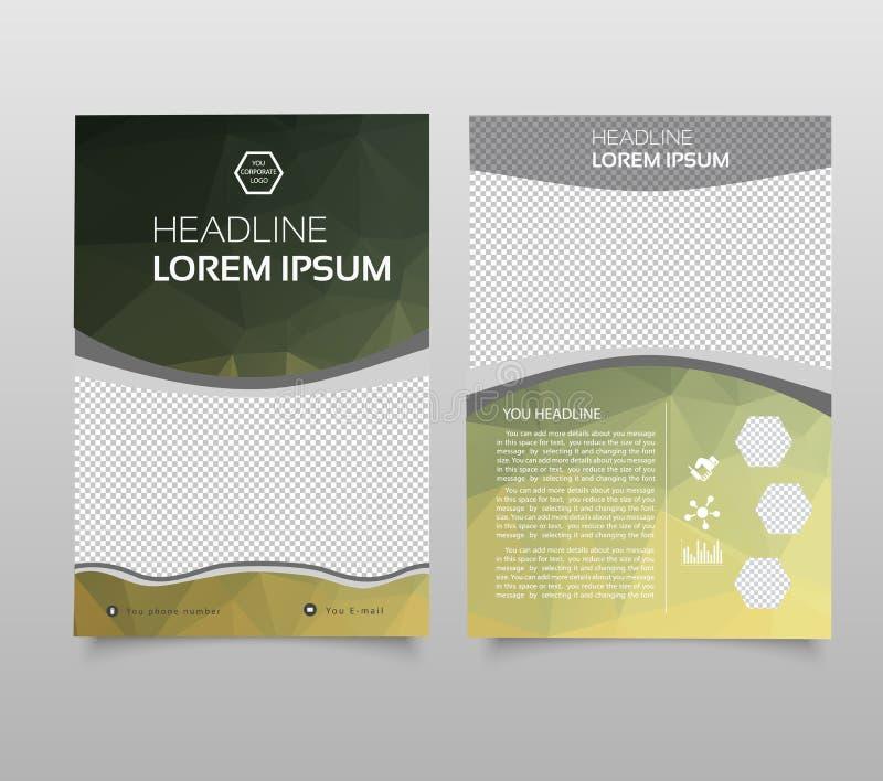 Αφηρημένο πρότυπο ετήσια εκθέσεων υποβάθρου, σύγχρονο πρότυπο παρουσίασης τριγώνων Υπόβαθρο επιχειρησιακού σχεδίου, φυλλάδιο ή ιπ ελεύθερη απεικόνιση δικαιώματος