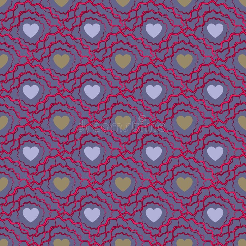 αφηρημένο πρότυπο καρδιών άν&e Ημέρα Valetines ή κοριτσίστικος διανυσματική απεικόνιση