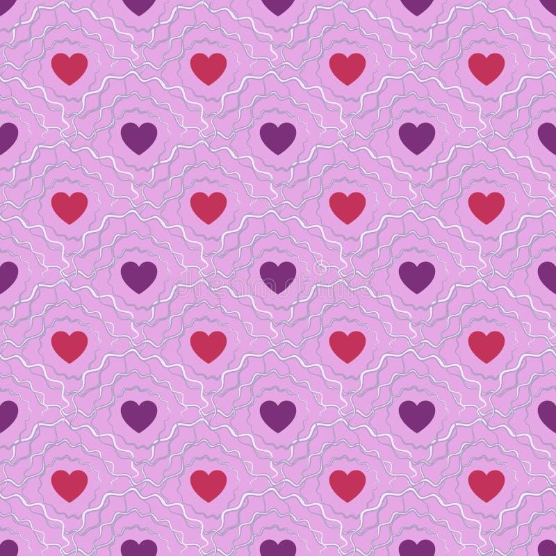 αφηρημένο πρότυπο καρδιών άν&e Ημέρα Valetines ή κοριτσίστικος ελεύθερη απεικόνιση δικαιώματος