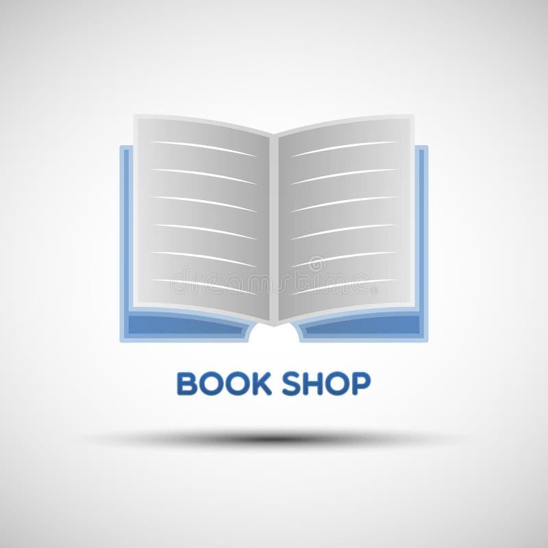 Αφηρημένο πρότυπο λογότυπων βιβλίων διανυσματική απεικόνιση