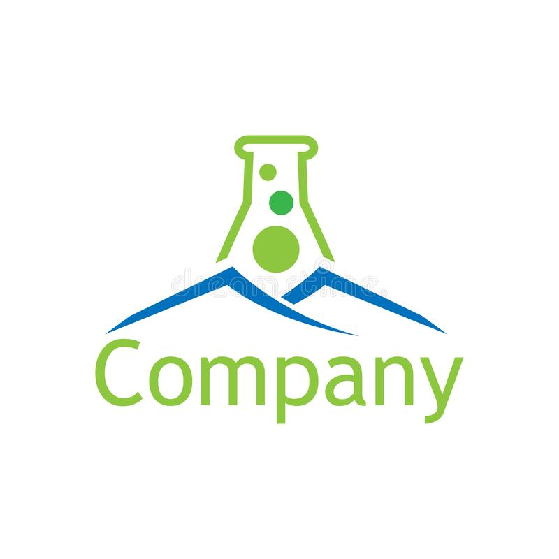 Αφηρημένο πρότυπο λογότυπων εργαστηρίων και σπιτιών Επίπεδο σχέδιο απεικόνιση αποθεμάτων