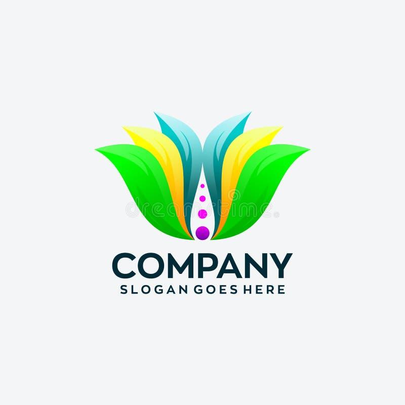 Αφηρημένο πρότυπο σχεδίου λογότυπων λουλουδιών απεικόνιση αποθεμάτων