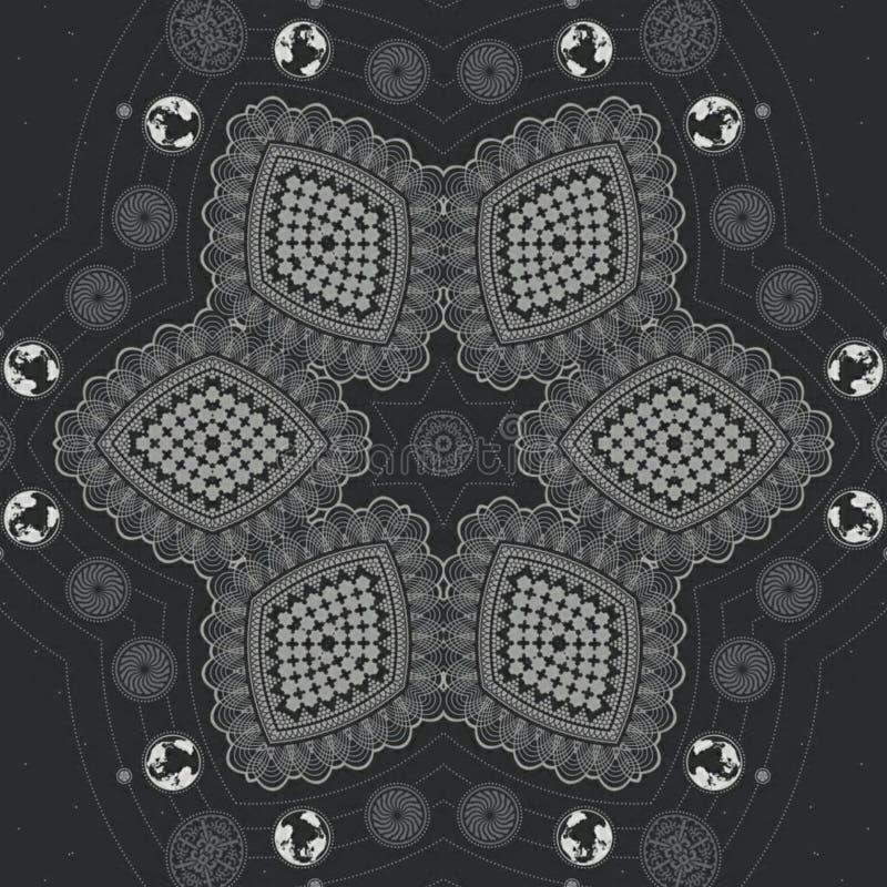 Αφηρημένο πρότυπο σχεδίου mandala απεικόνιση αποθεμάτων