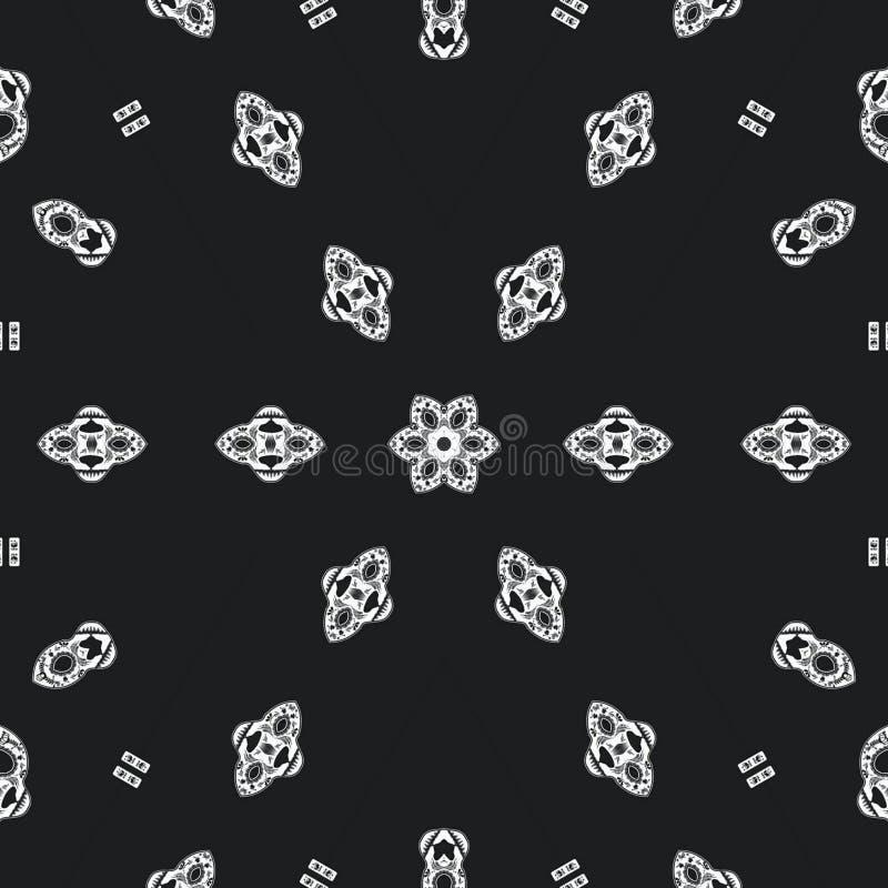 Αφηρημένο πρότυπο σχεδίου mandala διανυσματική απεικόνιση