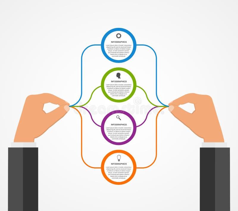 Download Αφηρημένο πρότυπο σχεδίου Infographics με τα ανθρώπινα χέρια που κρατούν τους στρογγυλούς φραγμούς Διανυσματική απεικόνιση - εικονογραφία από ιδέα, graph: 62702463