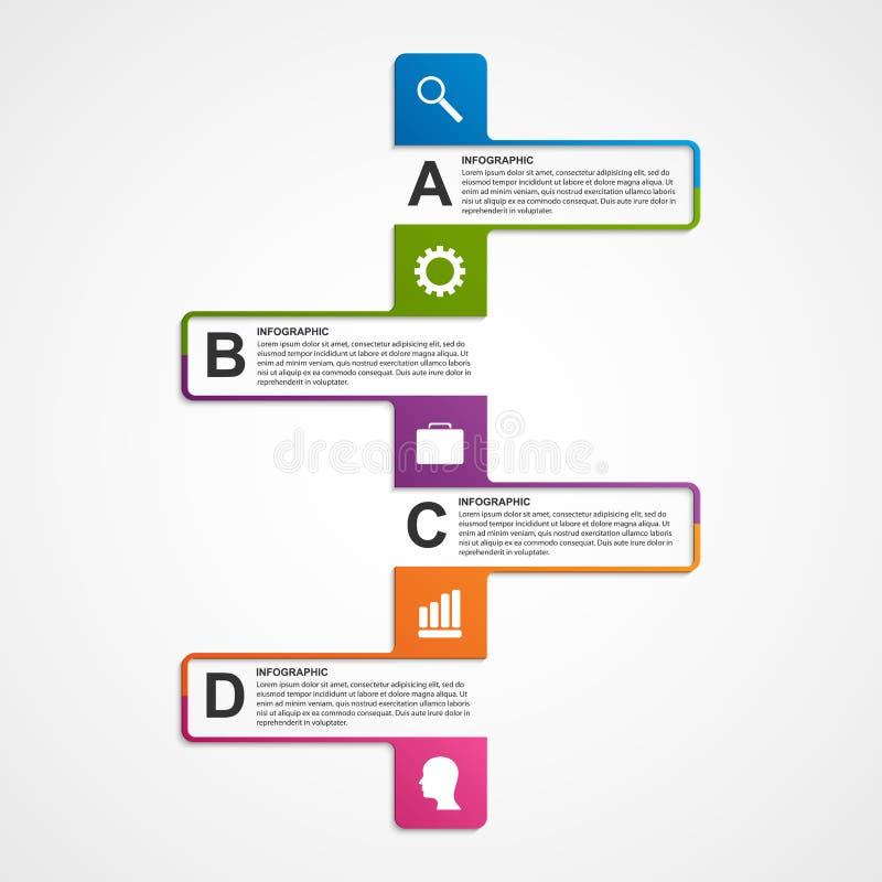 Download Αφηρημένο πρότυπο σχεδίου Infographics Διανυσματική απεικόνιση - εικονογραφία από οδηγία, σελιδοδεικτών: 62701158
