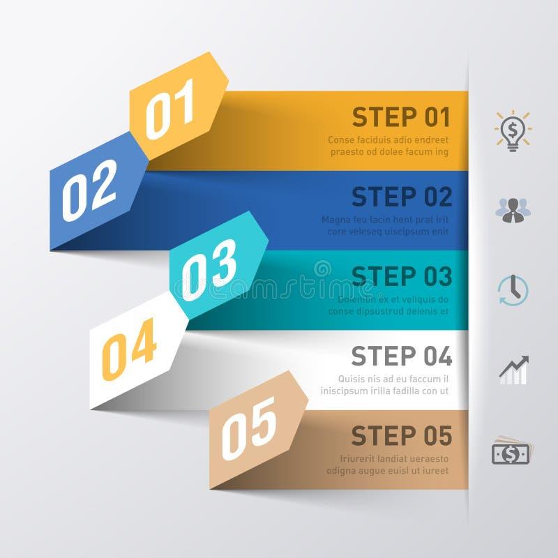 Αφηρημένο πρότυπο infographics επιχειρησιακής διαδικασίας διανυσματική απεικόνιση