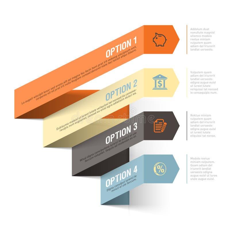 Αφηρημένο πρότυπο infographics θέματος τράπεζας διανυσματική απεικόνιση