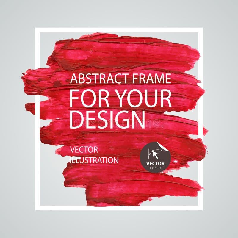 Αφηρημένο πλαίσιο κτυπήματος βουρτσών χρωμάτων Πρότυπο αφισών eps σχεδίου 10 ανασκόπησης διάνυσμα τεχνολογίας ελεύθερη απεικόνιση δικαιώματος