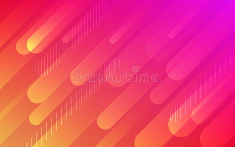 Αφηρημένο ρευστό κόκκινο πορτοκαλί διανυσματικό υπόβαθρο σχεδίων απεικόνιση αποθεμάτων