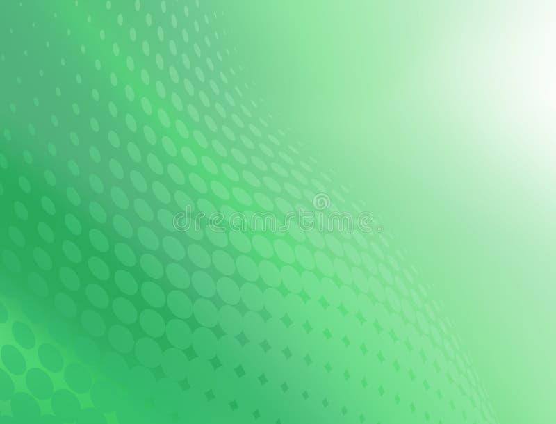 Αφηρημένο δροσερό πράσινο υπόβαθρο σχεδίου στροβίλου σημείων απεικόνιση αποθεμάτων
