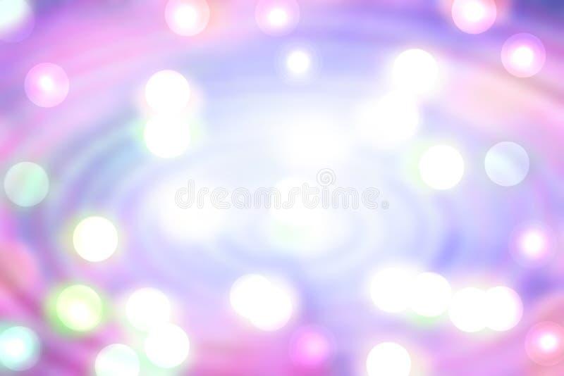 Αφηρημένο ρόδινο ακτινωτό υπόβαθρο Ζωηρόχρωμη μαγική ακτινωτή σύνθεση με τα άσπρα κυκλικά φω'τα bokeh Κρητιδογραφία που χρωματίζε ελεύθερη απεικόνιση δικαιώματος