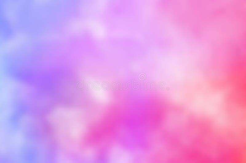 Αφηρημένο ρόδινο μπλε κόκκινο κίτρινο ιώδες πορτοκαλί πορφυρό υπόβαθρο watercolor Το χρώμα που καταβρέχει το θολωμένο έμβλημα Ιστ ελεύθερη απεικόνιση δικαιώματος