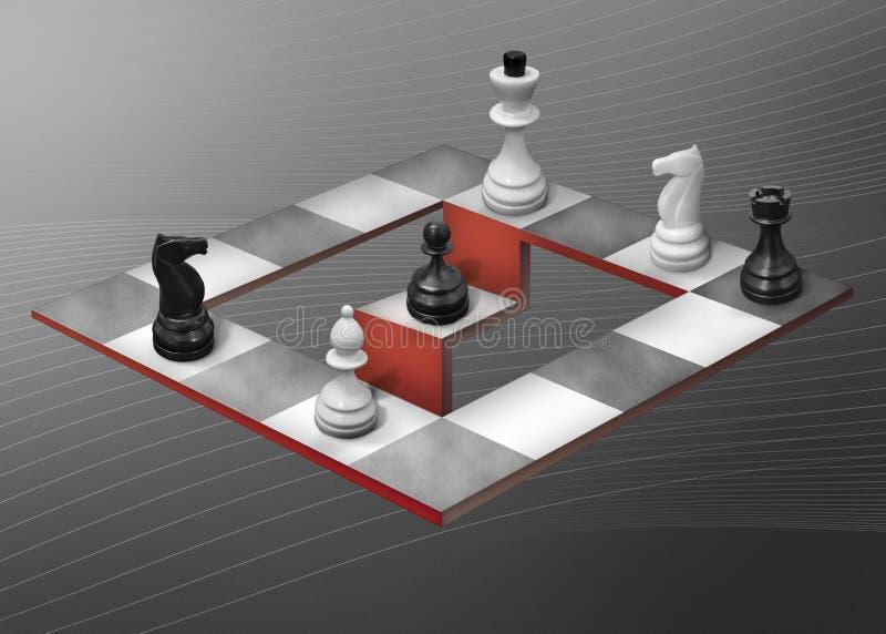 αφηρημένο σκάκι διανυσματική απεικόνιση