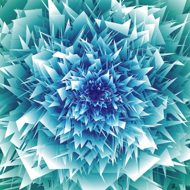 Αφηρημένο σκηνικό κρυστάλλου στους θαλάσσιους μπλε ημίτονους Διανυσματικό επιχειρησιακό υπόβαθρο απεικόνιση αποθεμάτων