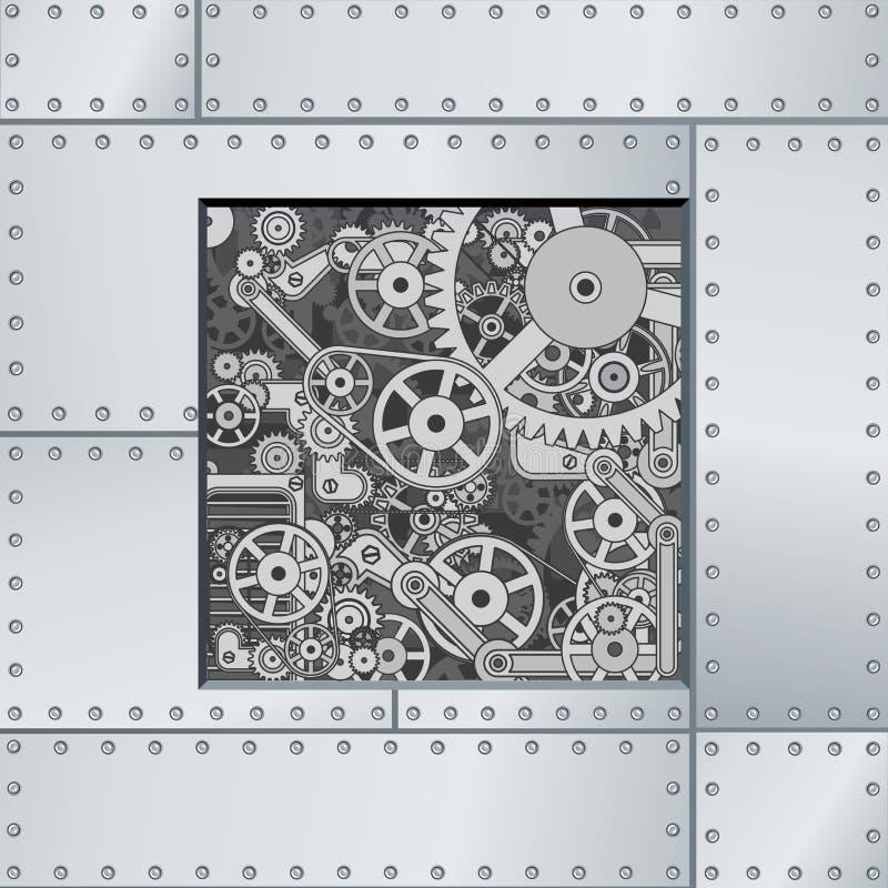 Αφηρημένο σκηνικό μηχανισμών διανυσματική απεικόνιση