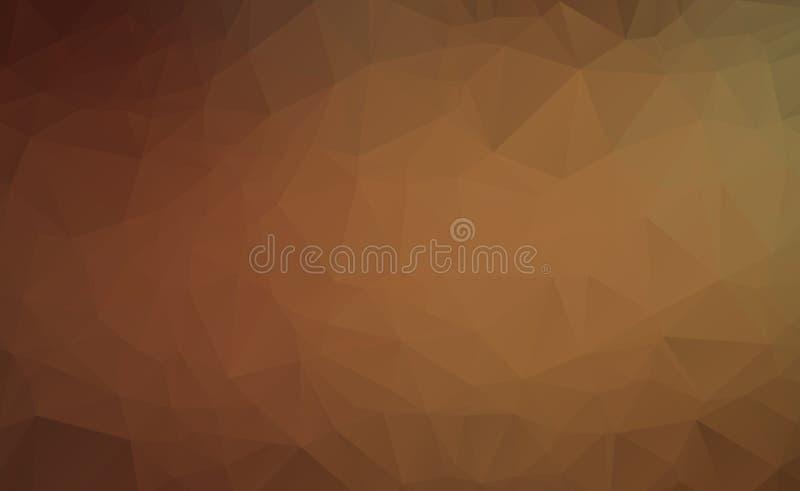 Αφηρημένο σκοτεινό καφετί διανυσματικό αφηρημένο κατασκευασμένο polygonal υπόβαθρο Μουτζουρωμένο σχέδιο τριγώνων Το σχέδιο μπορεί διανυσματική απεικόνιση