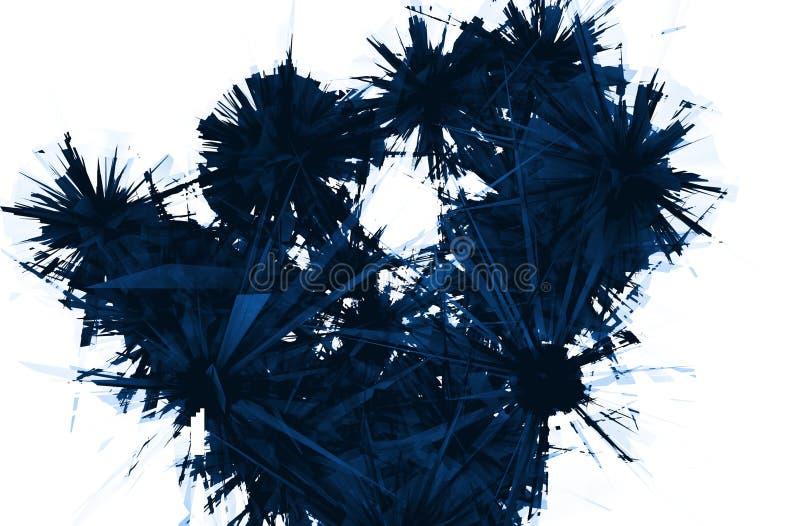 Αφηρημένο σκούρο μπλε ραγισμένο κρύσταλλο διανυσματική απεικόνιση