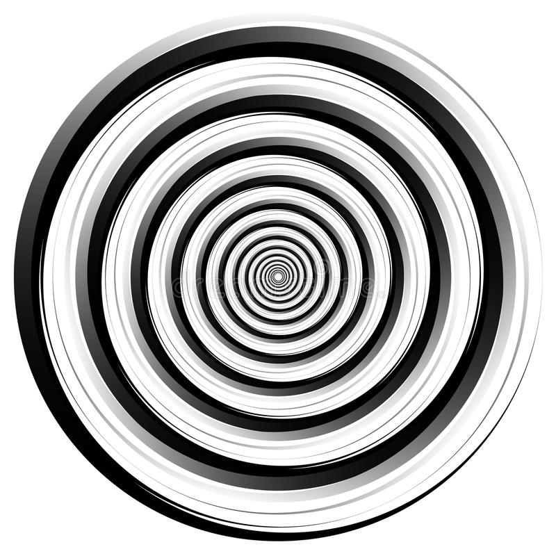 Αφηρημένο σπειρωειδώς στοιχείο Περιστροφή, δίνη γραφική ομόκεντρος διανυσματική απεικόνιση