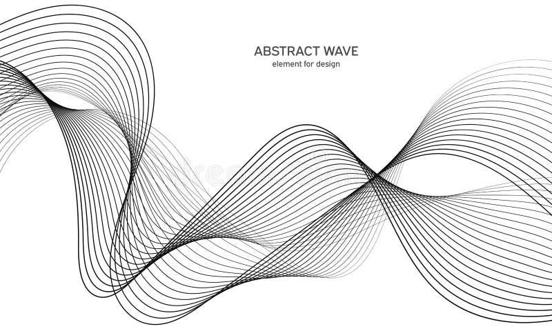Αφηρημένο στοιχείο κυμάτων για το σχέδιο Ψηφιακός εξισωτής διαδρομής συχνότητας Τυποποιημένο υπόβαθρο τέχνης γραμμών επίσης corel ελεύθερη απεικόνιση δικαιώματος