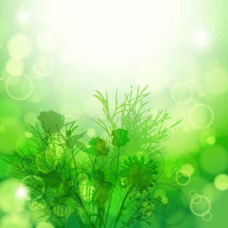 αφηρημένο στοιχείο σχεδίου ανασκόπησης floral διανυσματική απεικόνιση
