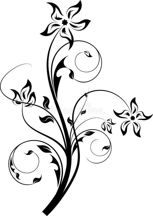 αφηρημένο στοιχείο σχεδίου floral διανυσματική απεικόνιση