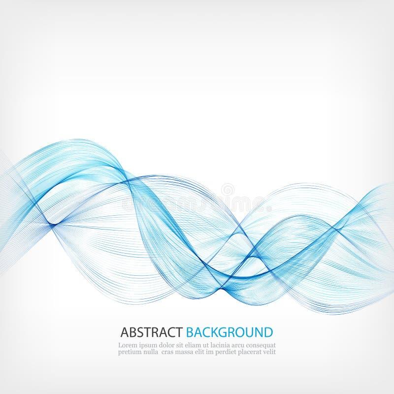 Αφηρημένο στοιχείο σχεδίου κυμάτων χρώματος Μπλε κύμα διανυσματική απεικόνιση