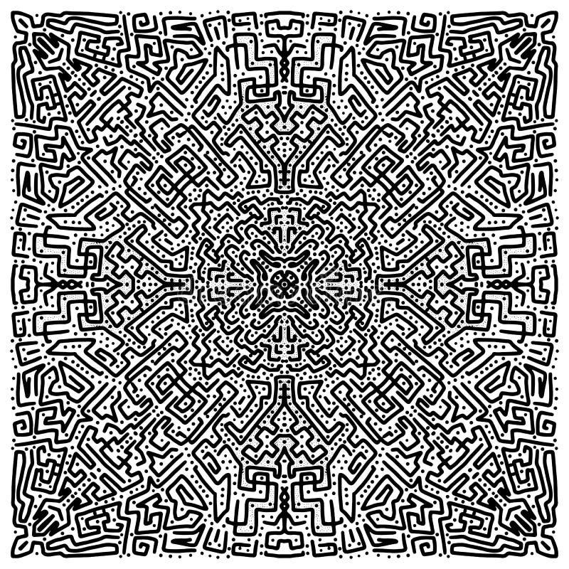 Αφηρημένο συρμένο χέρι υπόβαθρο doodle διανυσματική απεικόνιση