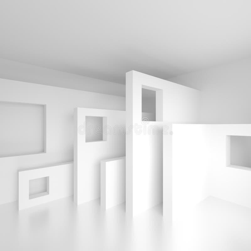 αφηρημένο σχέδιο αρχιτεκ&tau Άσπρο σύγχρονο υπόβαθρο Ελάχιστο Β ελεύθερη απεικόνιση δικαιώματος