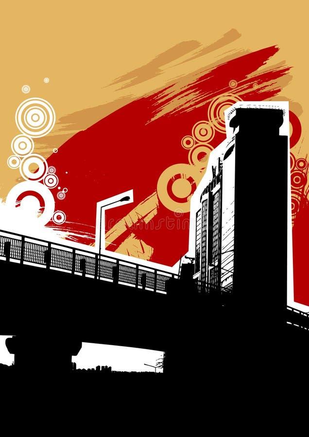 αφηρημένο σχέδιο αστικό διανυσματική απεικόνιση