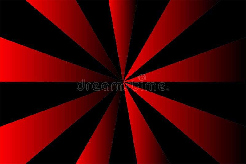 Αφηρημένο σχέδιο ηλιοφάνειας, κόκκινα και μαύρα χρώματα ακτίνων κλίσης Διανυσματική απεικόνιση, EPS10 γεωμετρικό πρότυπο ελεύθερη απεικόνιση δικαιώματος
