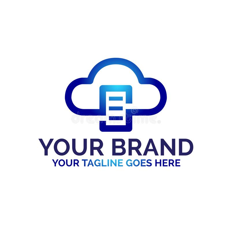 Αφηρημένο σχέδιο λογότυπων σύννεφων με την έννοια τεχνολογίας - διάνυσμα διανυσματική απεικόνιση