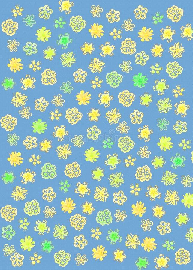 Αφηρημένο σχέδιο λουλουδιών στοκ εικόνα