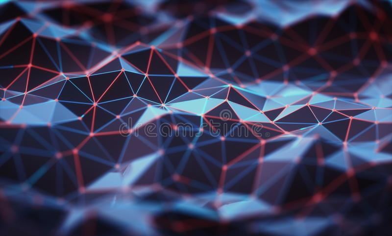 Αφηρημένο σχέδιο σύνδεσης τεχνολογίας υποβάθρου στοκ φωτογραφίες με δικαίωμα ελεύθερης χρήσης