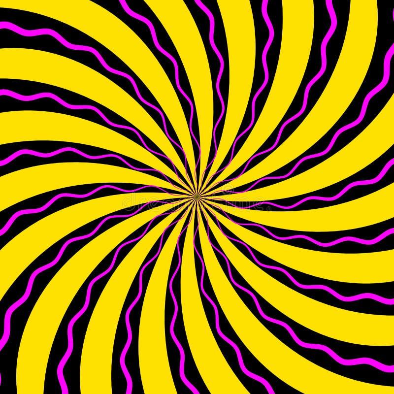 Αφηρημένο σχέδιο της τυποποιημένης σπειροειδούς psychedelic μορφής r απεικόνιση αποθεμάτων