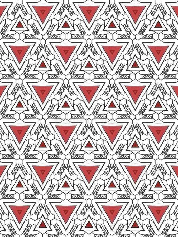 Αφηρημένο σχέδιο τριγώνων και σπειρών ελεύθερη απεικόνιση δικαιώματος