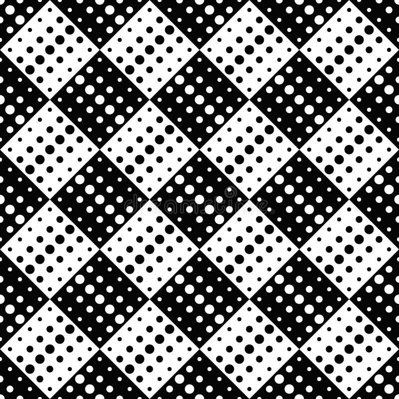 Αφηρημένο σχέδιο υποβάθρου σχεδίων σημείων - μονοχρωματικός διανυσματικός γραφικός διανυσματική απεικόνιση