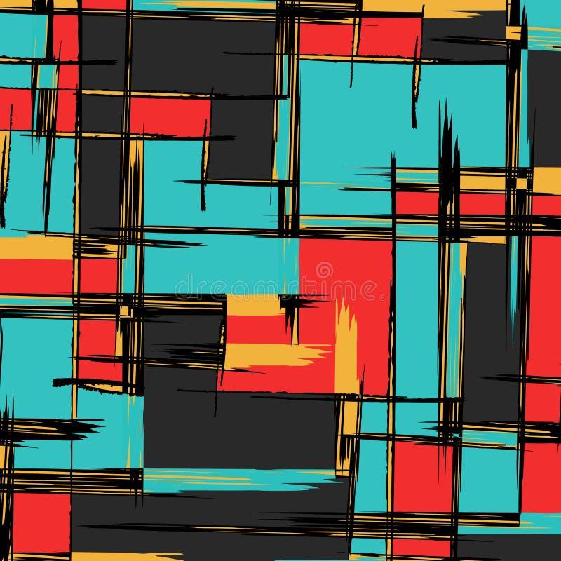 Αφηρημένο σχέδιο χρώματος στο ύφος γκράφιτι ποιοτική διανυσματική απεικόνιση για το σχέδιό σας απεικόνιση αποθεμάτων
