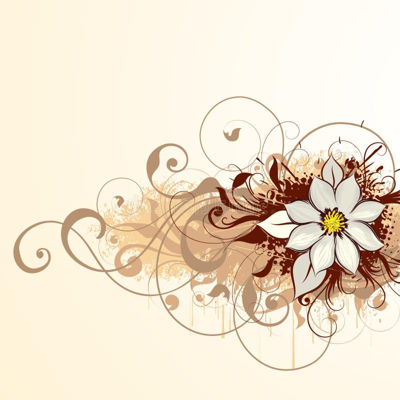 αφηρημένο σχέδιο floral απεικόνιση αποθεμάτων