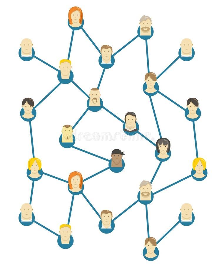 Αφηρημένο σχέδιο επικοινωνίας διάνυσμα ελεύθερη απεικόνιση δικαιώματος