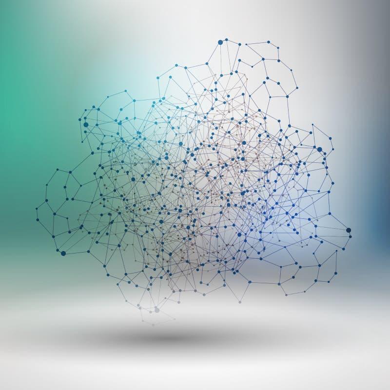Αφηρημένο σχέδιο δικτύων επικοινωνίας ελεύθερη απεικόνιση δικαιώματος