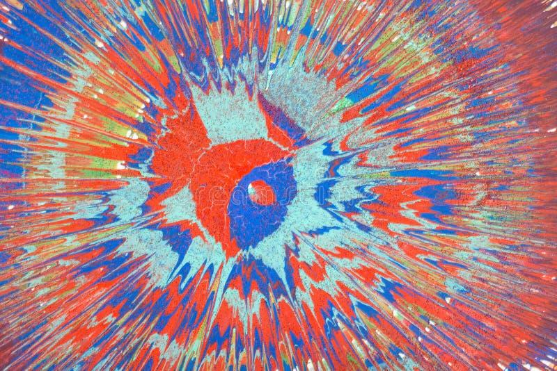 Αφηρημένο σχέδιο με τα ακρυλικά χρώματα στον καμβά στοκ εικόνες