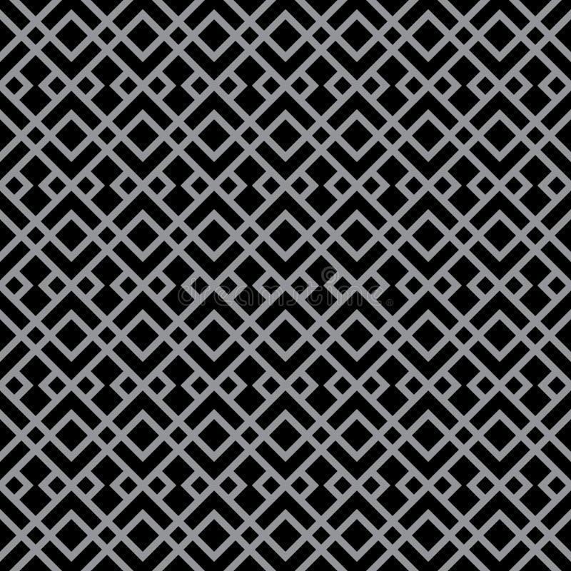 Αφηρημένο σχέδιο ντεκόρ πολυτέλειας του Art Deco μαύρο & γκρίζο διανυσματική απεικόνιση