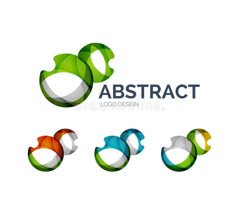 Αφηρημένο σχέδιο λογότυπων φυσαλίδων φιαγμένο από κομμάτια χρώματος διανυσματική απεικόνιση
