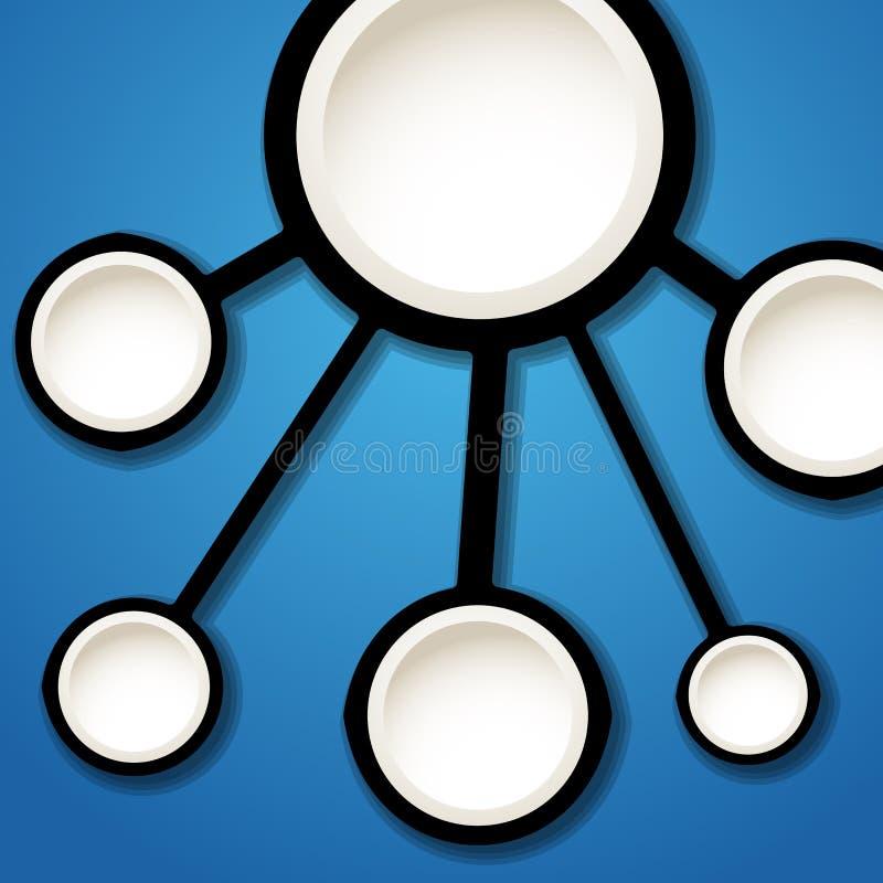 Αφηρημένο σχέδιο σύνδεσης Πρότυπο για ένα κείμενο ελεύθερη απεικόνιση δικαιώματος