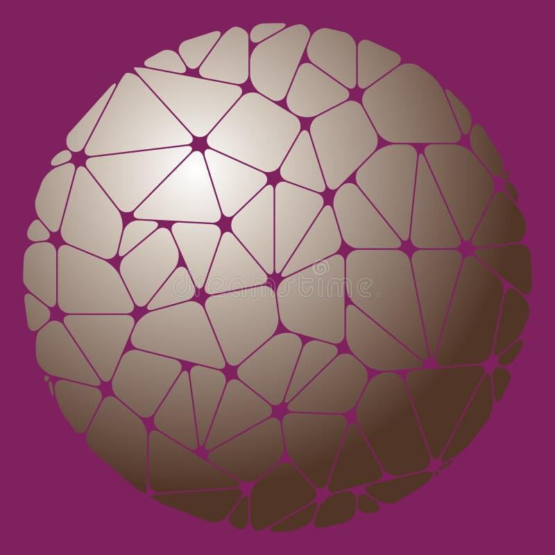 Αφηρημένο σχέδιο των γκρίζων γεωμετρικών στοιχείων που ομαδοποιούνται σε έναν κύκλο απεικόνιση αποθεμάτων