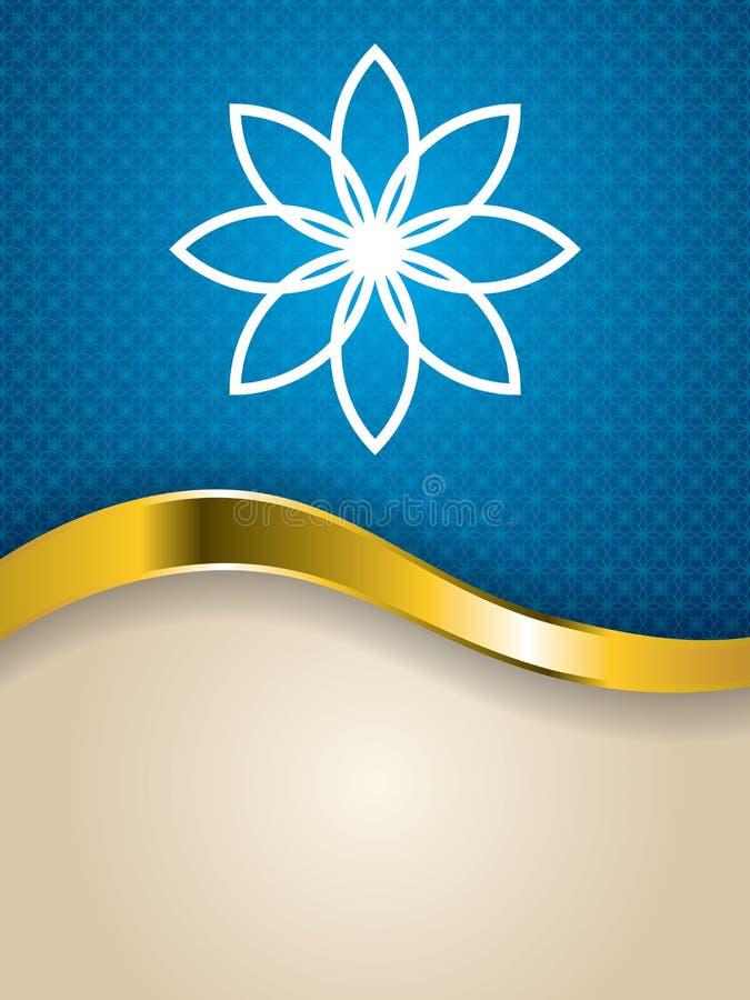 Αφηρημένο σχέδιο φυλλάδιων λουλουδιών κατασκευασμένο διανυσματική απεικόνιση