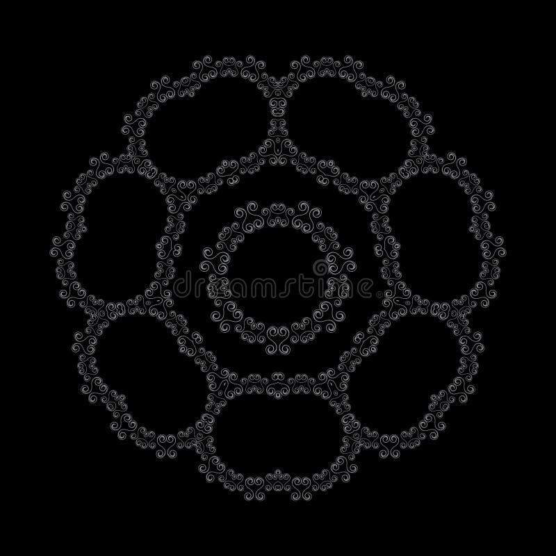 αφηρημένο σχέδιο floral διανυσματική απεικόνιση